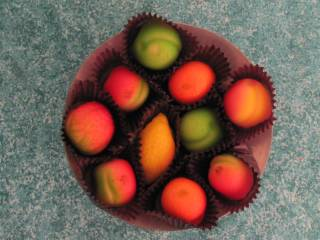 Marzipan Fruit shapes - Click Image to Close